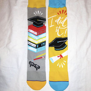 Accessories - GRADUATE SOCKS BOOKS HOMEWORK HIGH SCHOOL COLLEGE